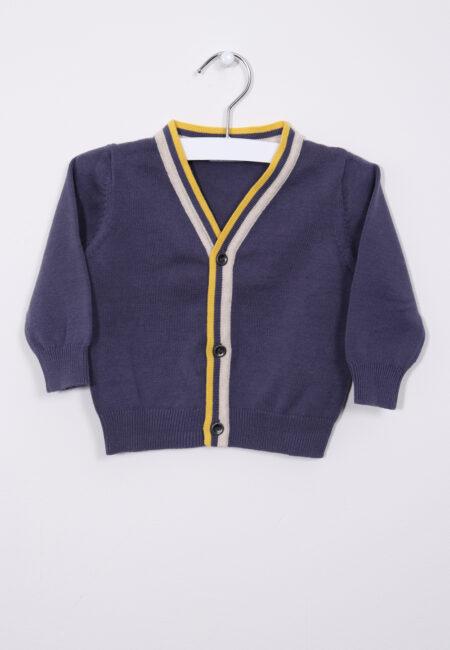 Blauwe-gele gilet, P'tit Filou, 68