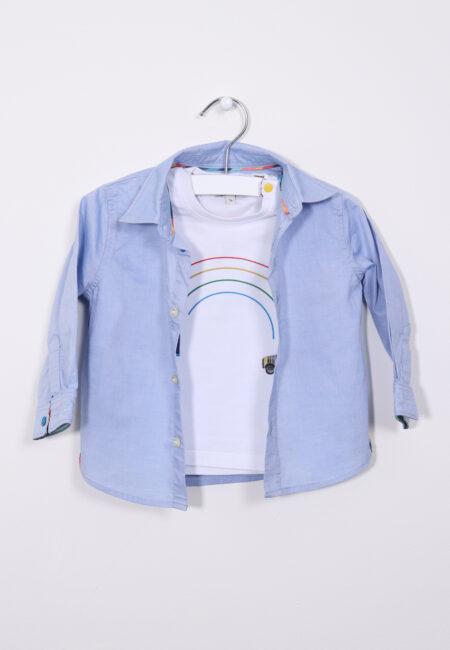 Setje, tshirt en lichtblauw hemdje, Paul Smith, 68