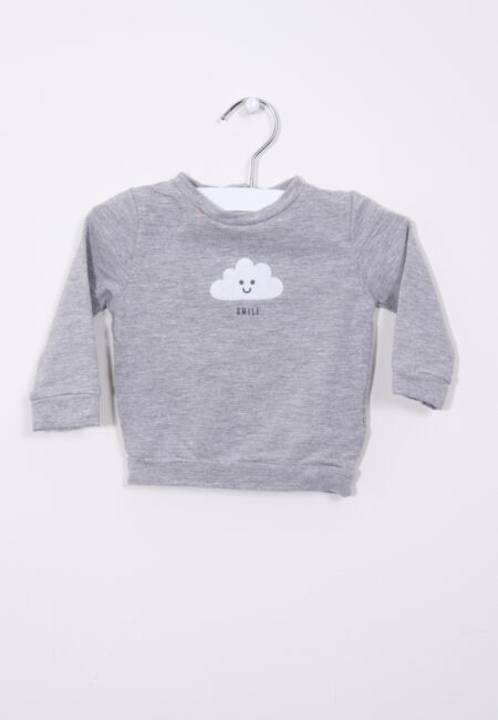 Lichtgrijs sweatertje, JBC, 68