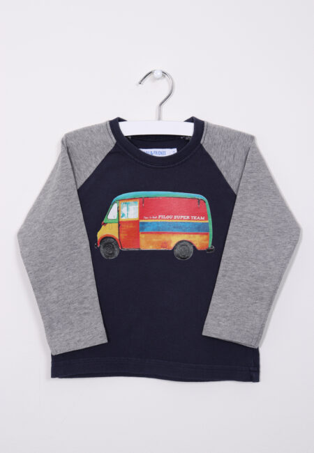 Blauw-grijze sweater, Filou & Friends , 92