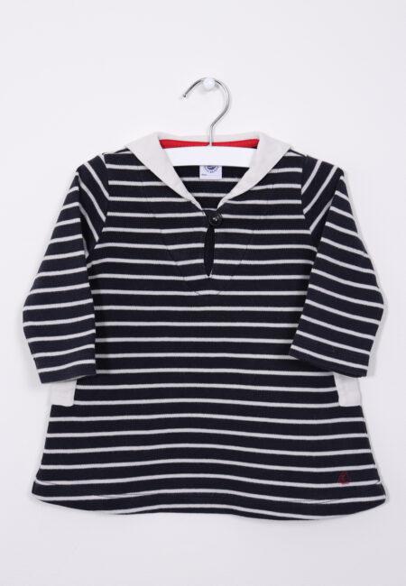 Blauw-wit kleedje, Petit bateau, 74