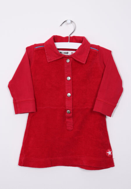 Rood longsleeve kleedje, Kik*Kid, 74