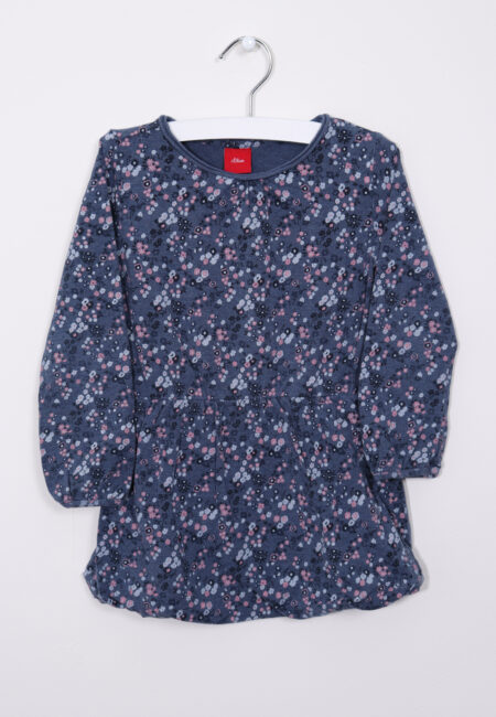 Blauw-roos kleedje, S.Oliver, 92