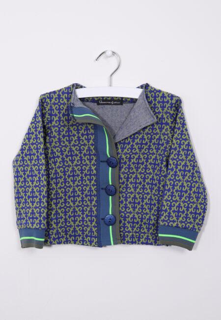 Blauw-groen giletje, Glamourous by Strass, 98