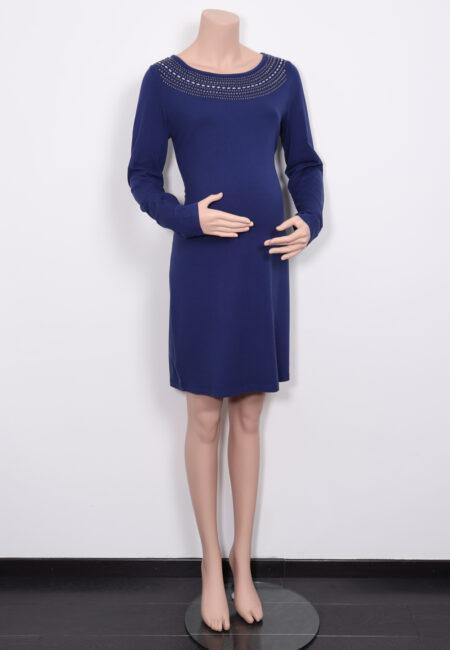 Blauw kleedje, Queen Mum, L