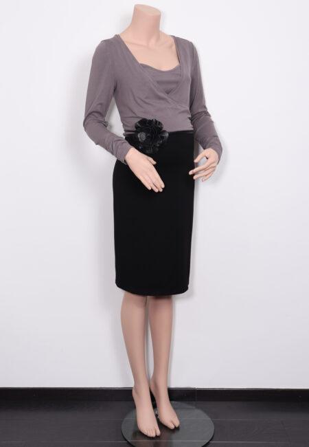 Taupe-zwart kleedje , Noppies, M