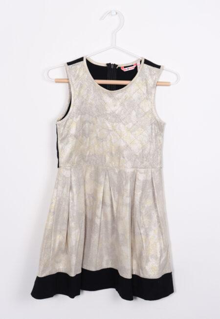 Goud, zwart kleedje, Nono, 116