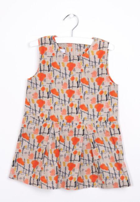 Beige-oranje kleedje, Filou & Friends, 98