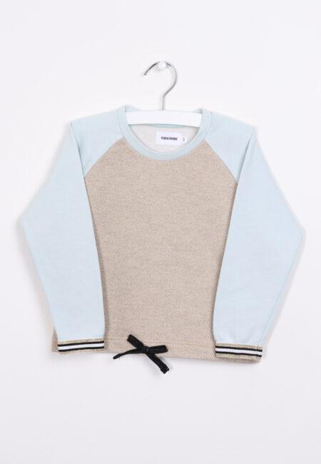 Lichtblauw-gouden sweater, Filou & Friends, 98