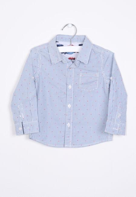 Blauw gestreept hemdje, JBC, 80