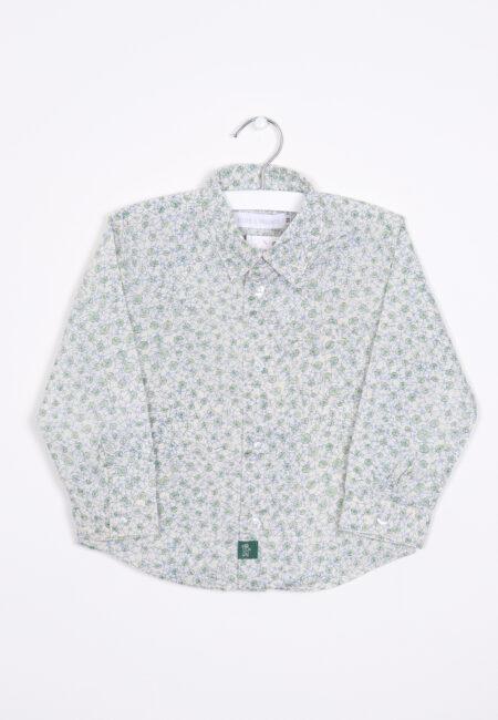 Groen-ecru hemdje, P'tit Filou, 98