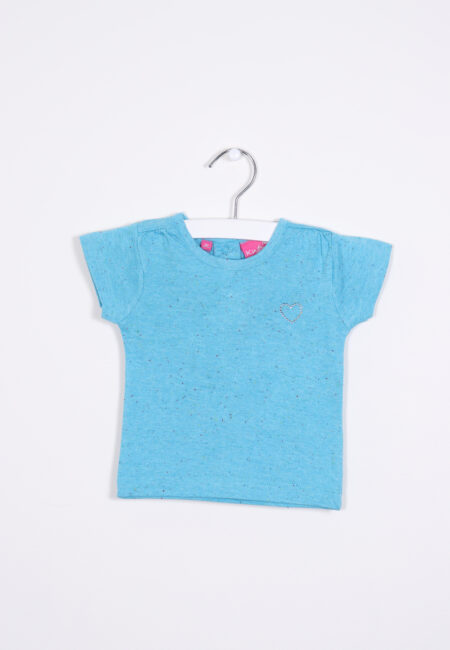 Turquoise t-shirtje, Knot so Bad, 62