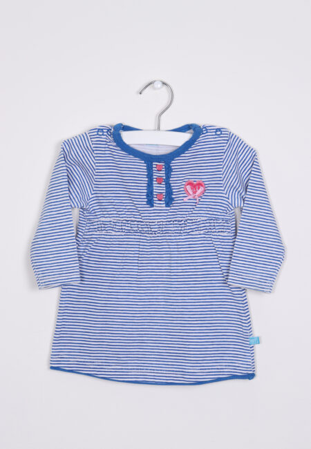 Blauw-wit kleedje, Lief, 68