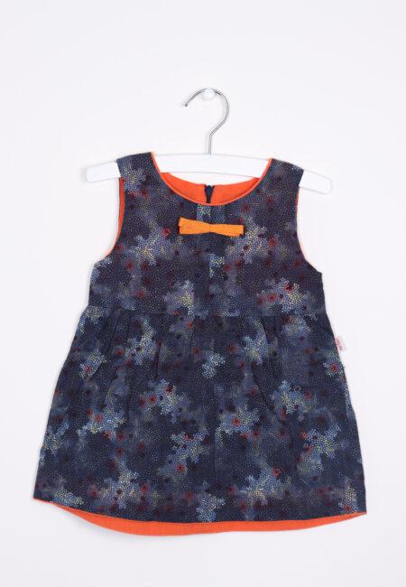 Blauw-oranje kleedje, Hilde & Co, 80