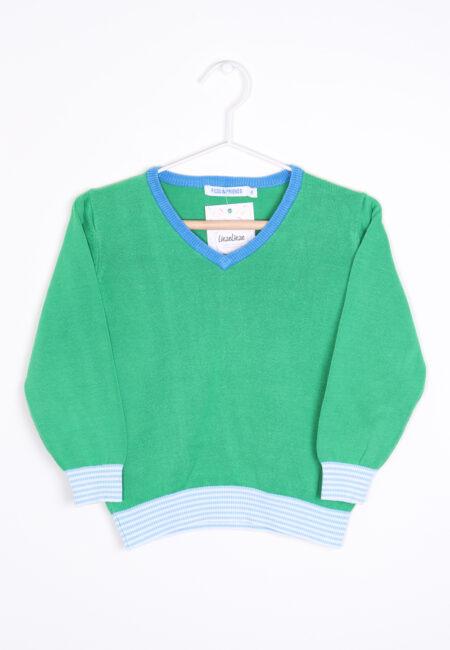 Groen-blauwe trui, Filou & Friends, 104