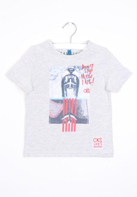 Grijs t-shirtje, CKS, 104