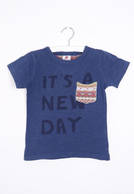 Blauwe t-shirt, AO, 104