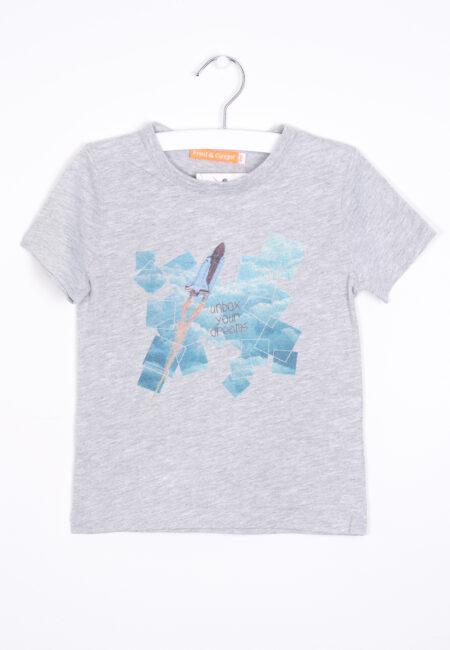 Lichtgrijze t-shirt, Fred & Ginger, 110