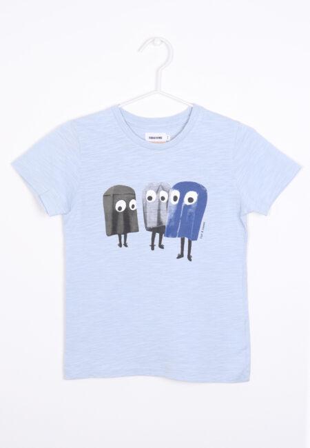 Lichtblauwe t-shirt, Filou & Friends, 122