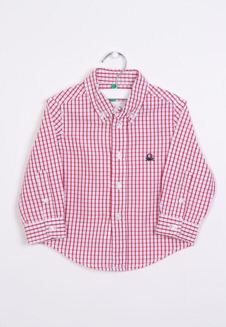 Wit-rood hemdje, Benetton, 74