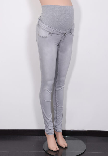 Lichtgrijze jeans, Queen Mum, XS