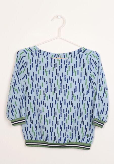 Blauw-groen bloesje, JBC, 116