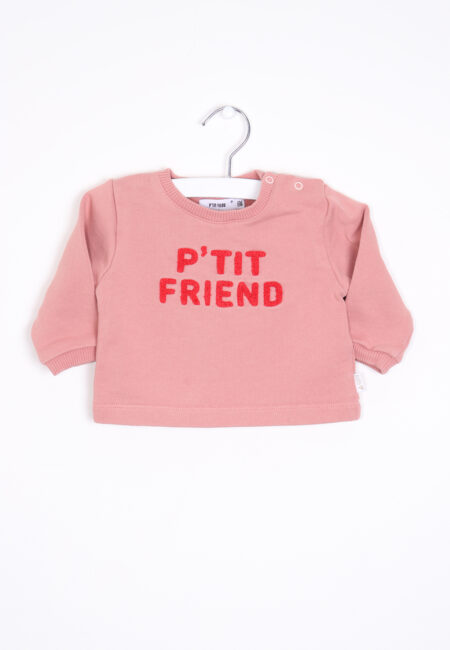 Oudroze sweatertje, P'tit Filou, 68