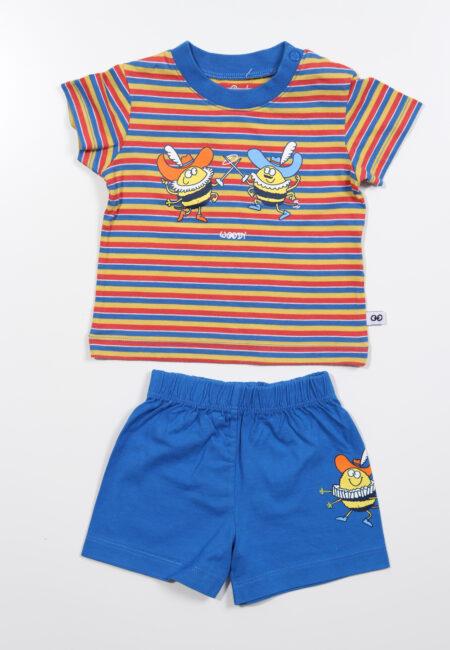 Blauw-gele pyjama, Woody, 62