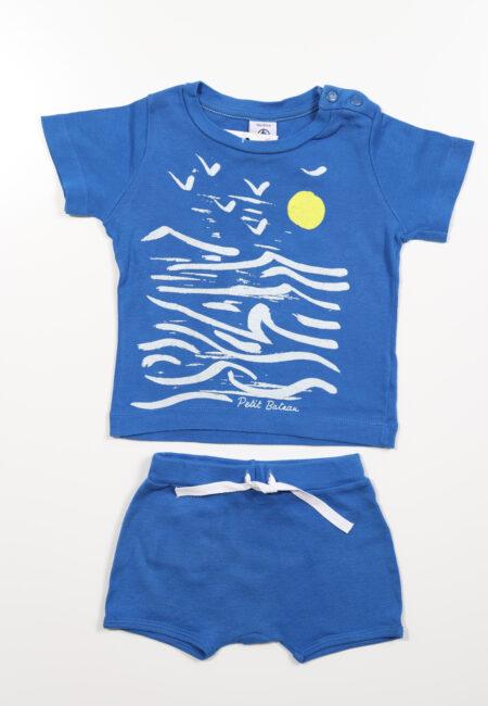 Blauwe pyjashort, Petit Bateau, 86