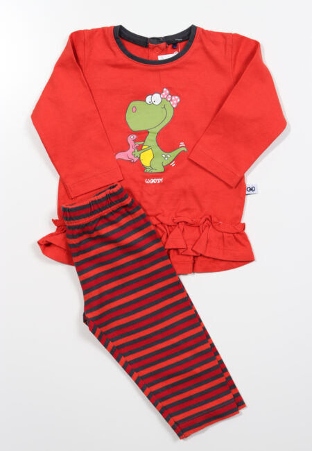 Rode pyjama, Woody, 62