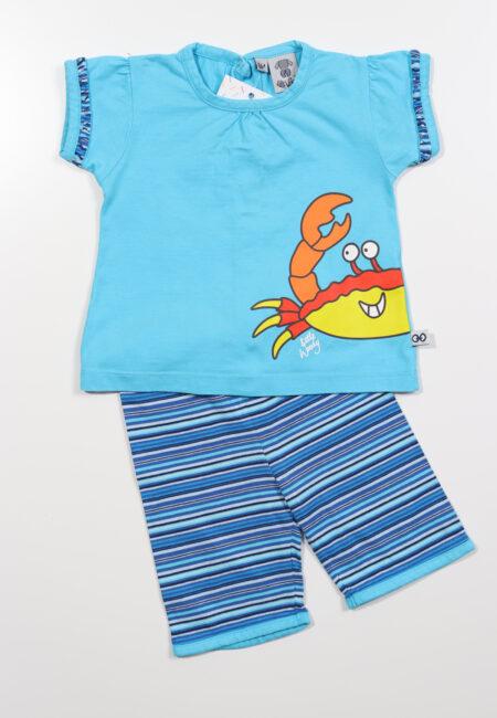 Blauw pyjashortje, Little Woody, 68