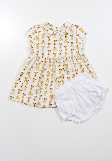 Wit-geel kleedje, P'tit Filou, 68