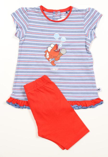 Blauw-groen pyjashortje, Woody, 68