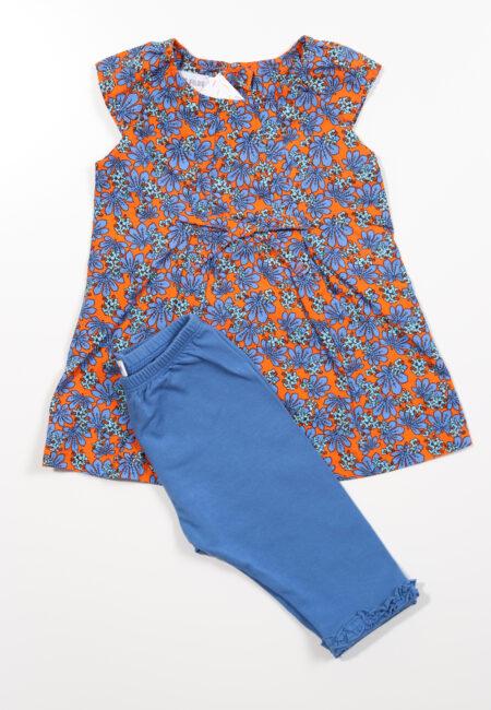 Blauw-oranje kleedje, P'tit Filou, 74