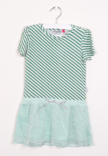 Groen-ecru kleedje, Kiezeltje, 86