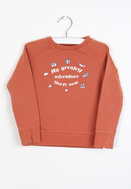 Roestbruine sweater, JBC, 92