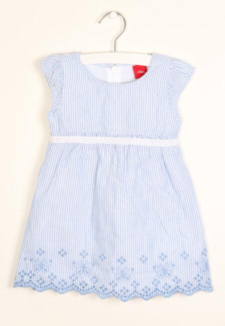 Blauw-wit kleedje, s.Oliver, 80