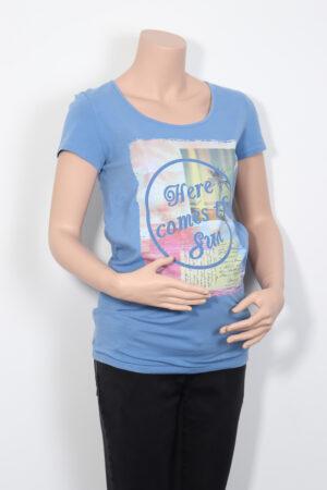 Lichtblauwe t-shirt, Noppies, M