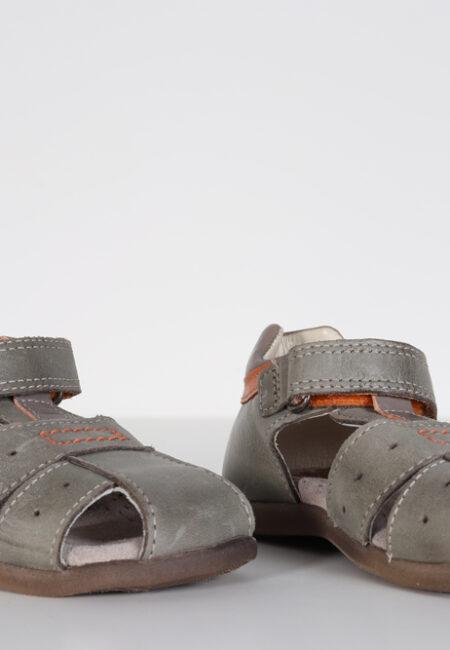 Kaki-oranje sandaaltjes, S&B, 22