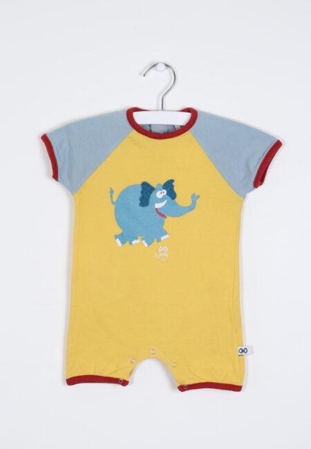 Geel-blauw pyjamaatje, Little Woody, 56