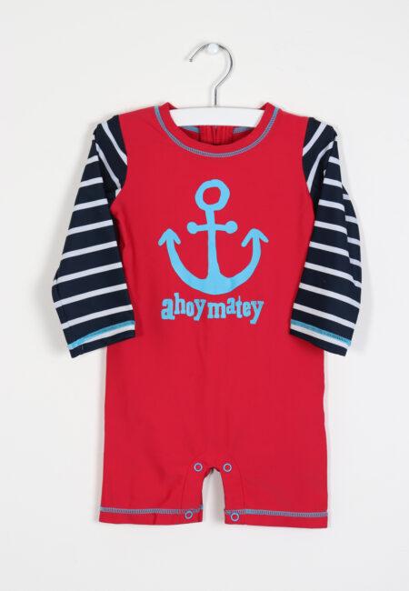 Rood-blauw zwempakje, Hatley, 80