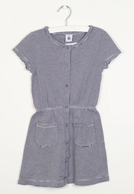 Blauw kleedje, Petit Bateau, 116