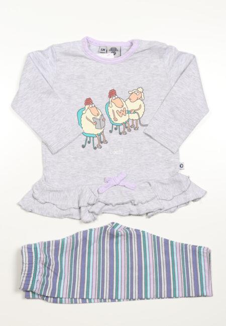 Grijs-paarse pyjama, Little Woody, 68