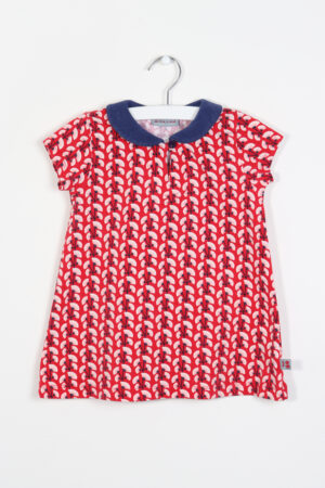 Rood-blauw kleedje, Froy & Dind, 86
