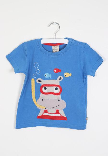 Blauwe t-shirt, Frugi, 86