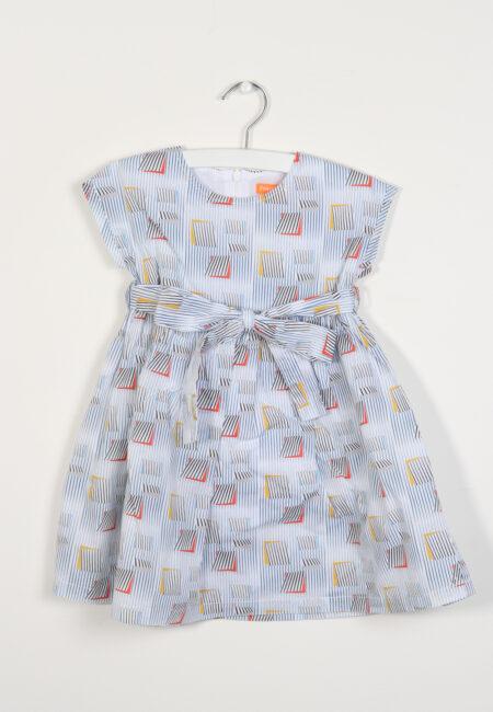 Blauw-wit kleedje, F&G, 98