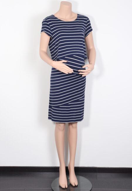 Blauw-wit kleedje, Zalando, L