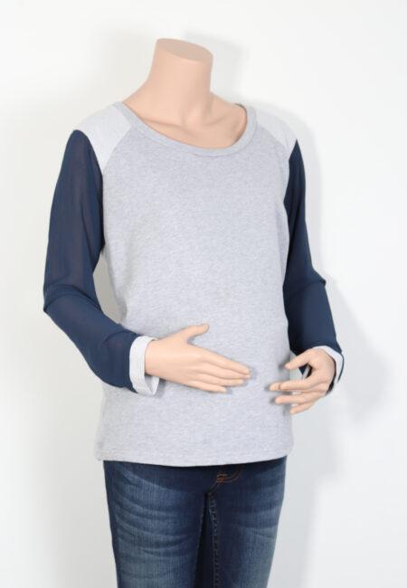 Grijs-blauwe sweater, Mamalicious, M