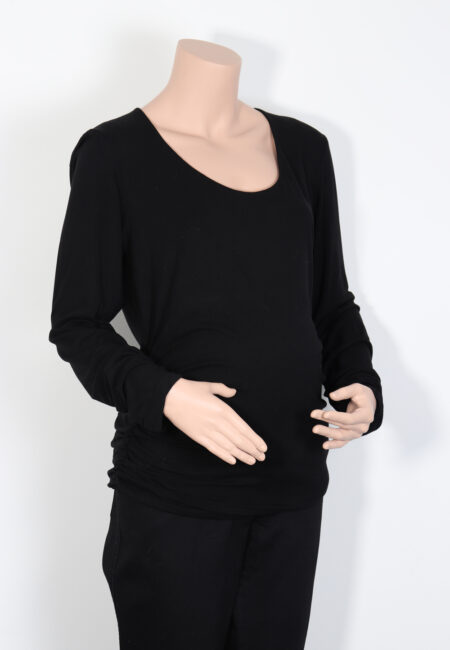 Zwarte longsleeve, Isabella Oliver, XL