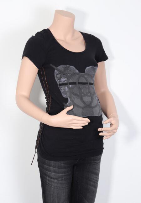 Zwart t-shirtje, L2W, XS